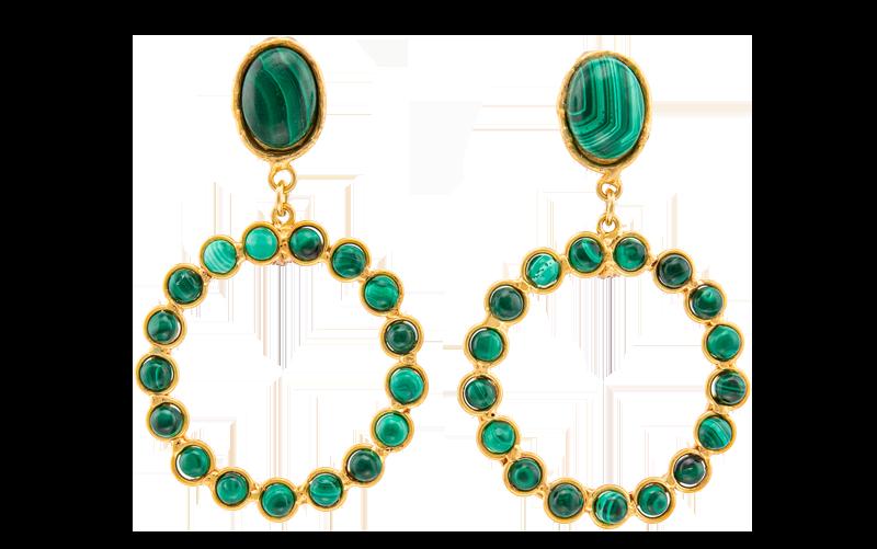 Malachit Earrings